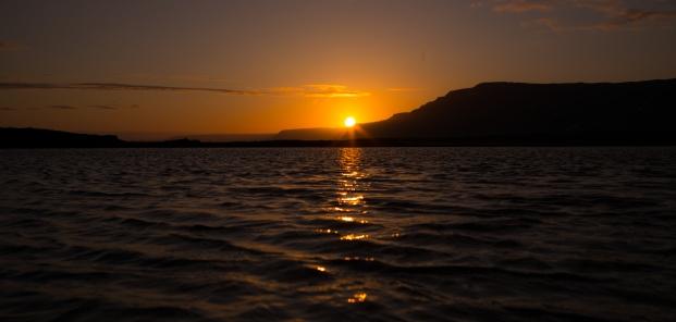 sunset, Reykholar - canon