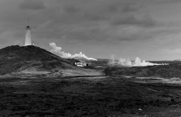 Geothermal power and lighthouse Leica